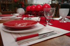 Avent, table, rouge, blanc, bougies, rennes,