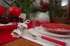 Avent, fourchettes, serviette, verre, bougie